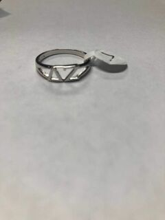Super Savings - Delta Gamma Sterling Silver Letter Ring - SILVER