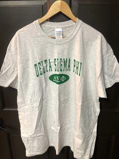 Super Savings - Delta Sigma Phi Arch Tee - LIGHT GREY