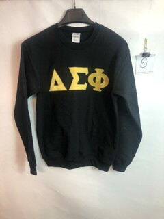 Super Savings - Delta Sigma Phi Design Your Own Crewneck Sweatshirt - BLACK