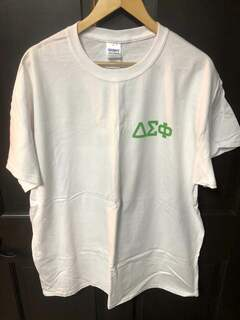 Super Savings - Delta Sigma Phi Flag T-Shirt - WHITE