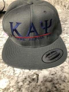Super Savings - Kappa Alpha Psi Flatbill Snapback Hat Original - GREY