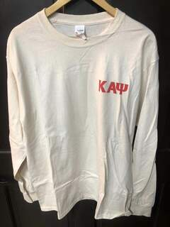 Super Savings - Kappa Alpha Psi World Famous Crest - Shield Long Sleeve T-Shirt - CREAM
