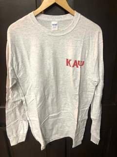 Super Savings - Kappa Alpha Psi World Famous Crest - Shield Long Sleeve T-Shirt - LIGHT GREY