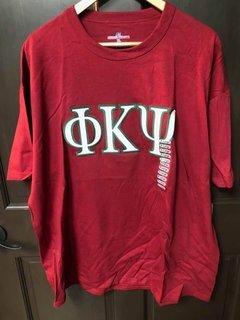 Super Savings - Phi Kappa Psi Lettered T-Shirt - RED