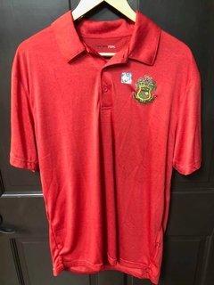 Super Savings - Phi Kappa Psi World Famous Greek Crest Shield Vital Polo - RED
