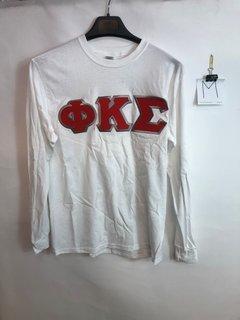 Super Savings - Phi Kappa Sigma Custom Twill Long Sleeve T-Shirt - WHITE