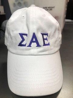 Super Savings - Sigma Alpha Epsilon Letter Hat - WHITE