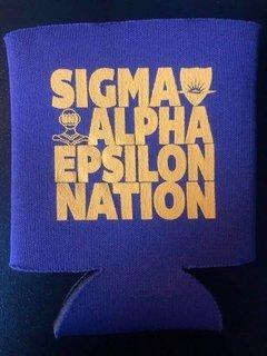 Super Savings - Sigma Alpha Epsilon Nation Can Cooler - PURPLE