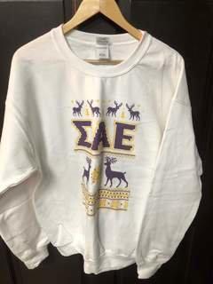 Super Savings - Sigma Alpha Epsilon Ugly Christmas Sweater Crewneck Sweatshirt - WHITE 1 of 2