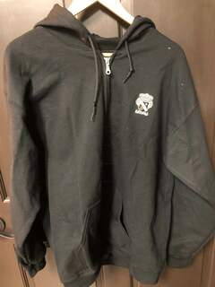 Super Savings - Sigma Nu Full Zip Hooded Sweatshirt with Crest - BLACK