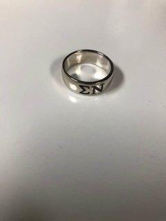 Super Savings - Sigma Nu Sterling Silver Ring - SILVER