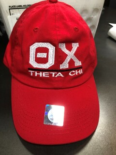 Super Savings - Theta Chi Old School Greek Letter Hat - RED