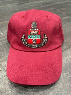 The New Super Savings - Alpha Chi Omega Emblem Hat - RED