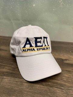 The New Super Savings - Alpha Epsilon Pi World Famous Line Hat - WHITE