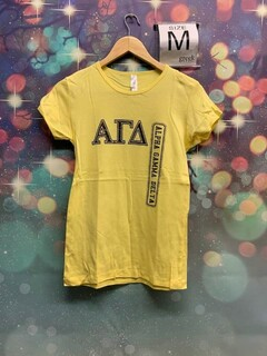 The New Super Savings - Alpha Gamma Delta Tee - YELLOW
