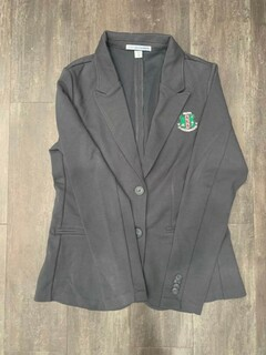 The New Super Savings - Alpha Kappa Alpha Crest - Shield Blazer - GREY