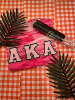 The New Super Savings - Alpha Kappa Alpha On The Go Set - PINK AND BLACK