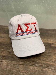 The New Super Savings - Alpha Sigma Tau World Famous Line Hat - WHITE