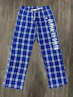 The New Super Savings - Alpha Xi Delta Pajamas - Flannel Plaid Pant - BLUE