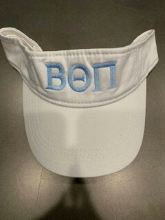 The New Super Savings - Beta Theta Pi Greek Letter Visor - WHITE
