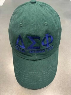 The New Super Savings - Delta Sigma Phi World Famous Line Hat - GREEN