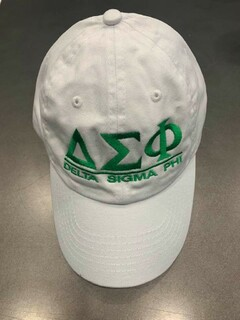 The New Super Savings - Delta Sigma Phi World Famous Line Hat - WHITE