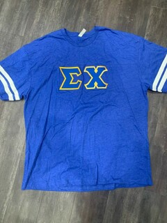 The New Super Savings - Sigma Chi Lettered Jersey - BLUE