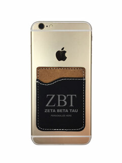 Zeta Beta Tau Leatherette Phone Wallet