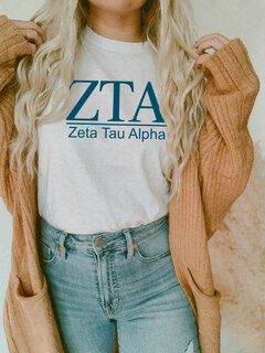 Zeta Tau Alpha Comfort Colors Heavyweight T-Shirt