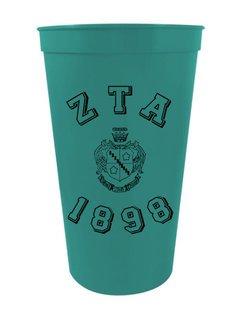 Zeta Tau Alpha Custom Greek Crest Est Stadium Cup