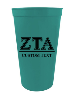 Zeta Tau Alpha Custom Greek Symbolized Stadium Cup