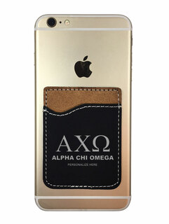 Alpha Chi Omega Leatherette Phone Wallet