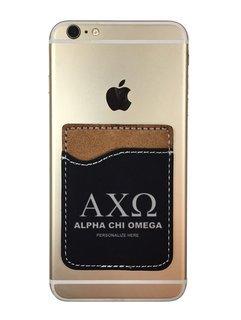 Alpha Chi Omega Leatherette Phone Wallet