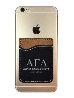 Alpha Gamma Delta Leatherette Phone Wallet