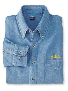 DISCOUNT-Alpha Phi Alpha Denim Shirt