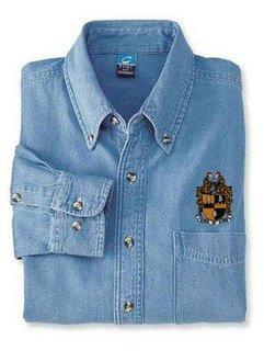 DISCOUNT-Alpha Phi Alpha Denim Shirt - Shield