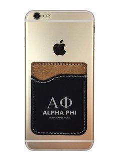 Alpha Phi Leatherette Phone Wallet