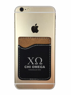 Chi Omega Leatherette Phone Wallet