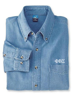 DISCOUNT-Phi Beta Sigma Denim Shirt