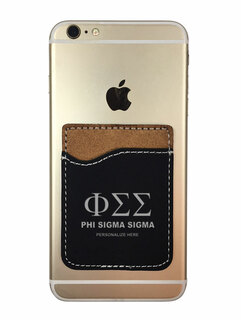 Phi Sigma Sigma Leatherette Phone Wallet