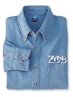 DISCOUNT-Zeta Phi Beta Denim Shirt