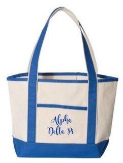 Alpha Delta Pi Sailing Tote Bag
