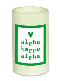 Alpha Kappa Alpha Flameless Candle