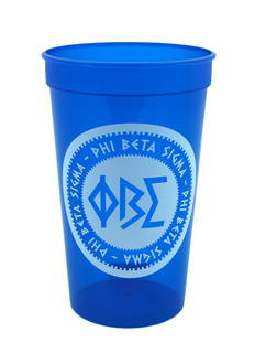 Set of 10 - Phi Beta Sigma Big Ancient Greek Letter Stadium Cup - Clearance!!!