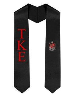 Tau Kappa Epsilon Greek Lettered Graduation Sash Stole With Crest