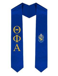Theta Phi Alpha Greek Lettered Graduation Sash Stole With Crest