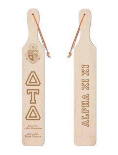 Delta Tau Delta Old School Wood Greek Paddle