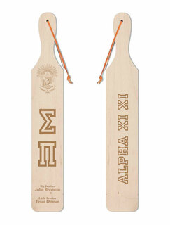 Sigma Pi Old School Wood Greek Paddle