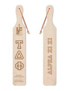 Tau Delta Phi Old School Wood Greek Paddle