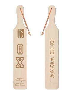 Theta Chi Old School Wood Greek Paddle